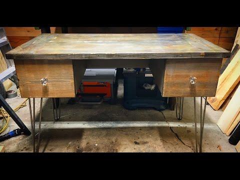 "Lazy Guy DIY:  Farmhouse Style ""Jack"" Desk Tutorial"