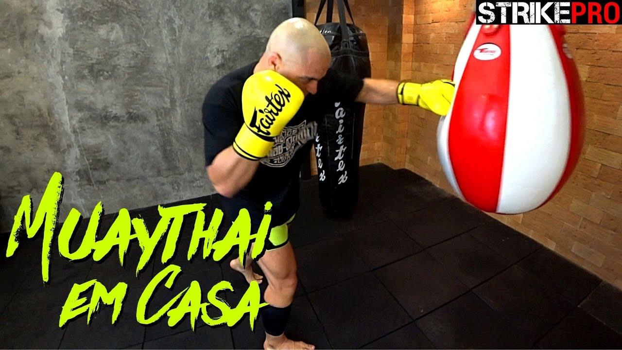 Treino dirigido no saco de pancadas 🥊 Muay Thai em Casa