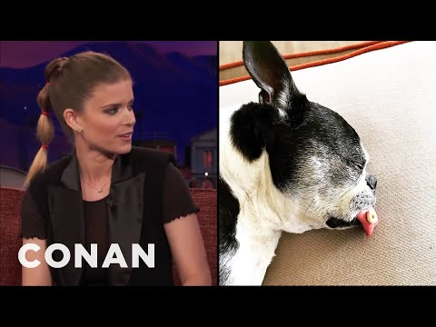 Kate Mara's Dog's Tongue Is Too Big For His Mouth  - CONAN on TBS