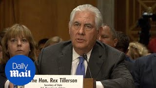 Tillerson discusses North Korea sanctions, Russia relationship - Daily Mail
