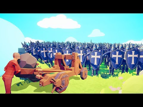 1 CATAPULT vs. 9000 WARRIORS = EPIC! (Totally Accurate Battle Simulator)