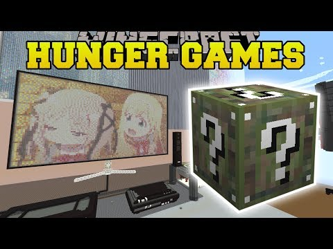 Minecraft: ANIME BEDROOM HUNGER GAMES - Lucky Block Mod - Mo