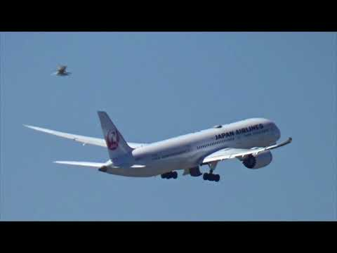 JAL 787 Logan Taxi Hold & Departure 4-22-18