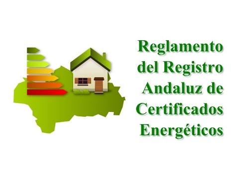 Registro andaluz de certificados energéticos