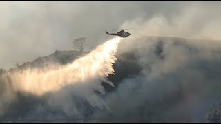3,300 Firemen Fight Fire with Helicopters in Full Load
