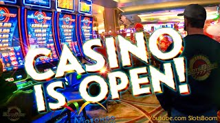 CASINO IS OPEN AGAIN!!! BUT WAIT!!! SLOTS PLAY BONUSES - QUICK HIT, INVADERS, SEA TALES