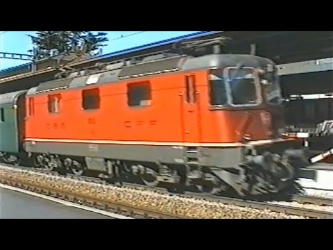 Treni Italiani, Svizzeri E Tedeschi A Bellinzona Nel 1997