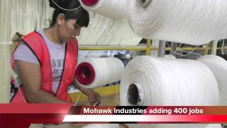 Mohawk Industries adding 400 new jobs in Dalton, Georgia
