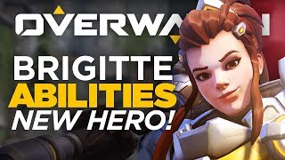 Brigitte All Abilities Gameplay - Overwatch NEW HERO