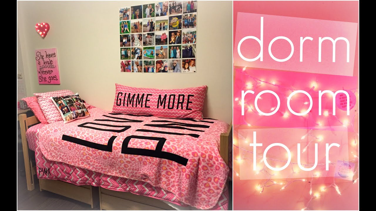 COLLEGE DORM ROOM TOUR! ♡   YouTube Part 42