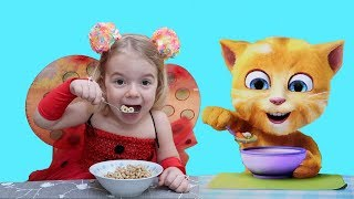 Anabella si PISICA VESELA | Anabella and  FUNNY talking CAT | Video for KIDS