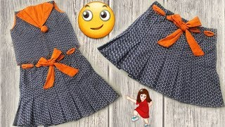 Beautiful and new design-2018 baby skirt making simple way // by simple cutting