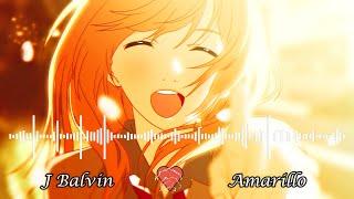 [NIGHTCORE]   J Balvin  - Amarillo Lyrics