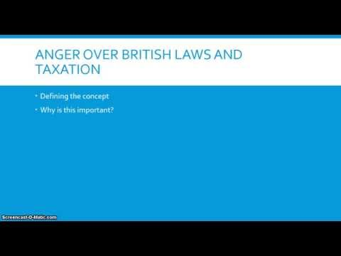 Anger over British Laws and Taxation - The American Revolution