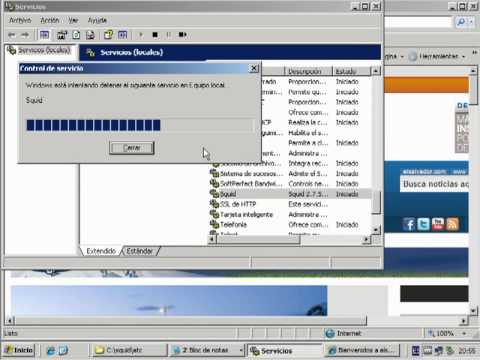 Instalado Squid Proxy De Servidor En Server 2003.mov