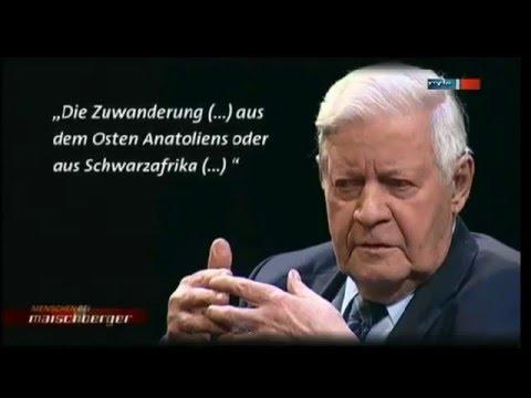 Helmut Schmidt über Einwanderung und Integration