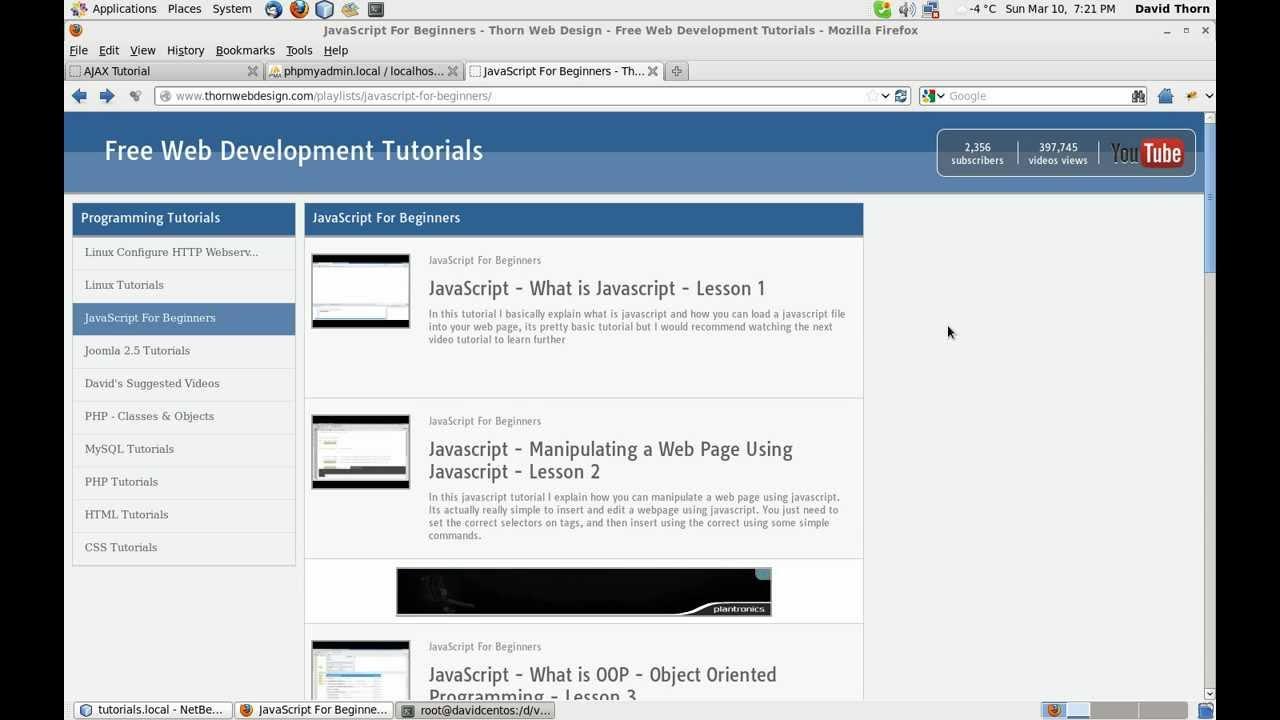 Free javascript video tutorials gallery any tutorial examples ajax tutorial intro to using jquerys ajax request part ajax tutorial intro to using jquerys ajax baditri Images