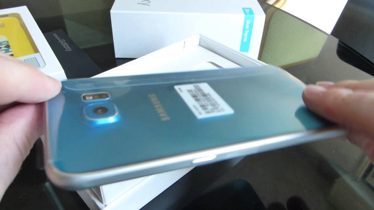 unbox samsung galaxy s6 bleu youtube. Black Bedroom Furniture Sets. Home Design Ideas
