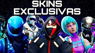 HOW TO GET EXCLUSIVE SKINS FROM FORTNITE BATTLE ROYALE🎮