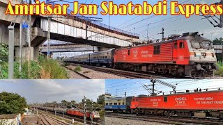 GOEL TMT LIVERY WAP7 Hauled Amritsar Jan Shatabdi Express || Solar powered Train || INDIAN RAILWAY