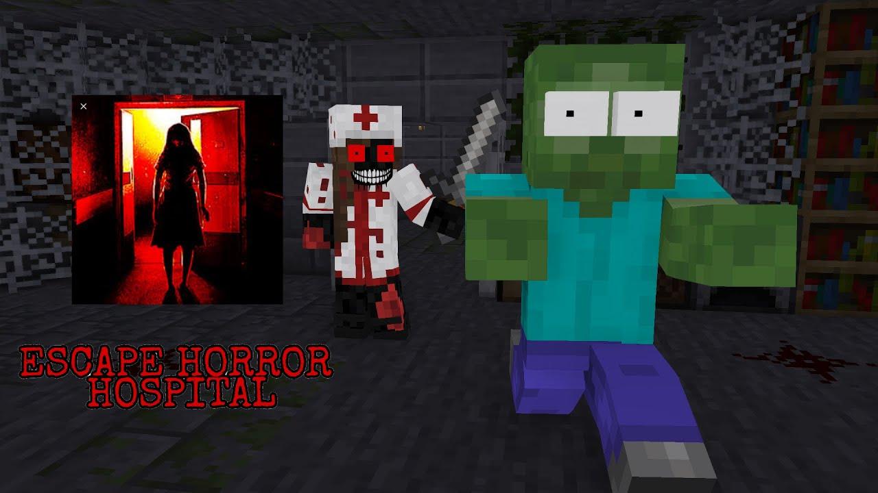 Monster School : Escape Horror hospital challenge - Minecraft Animation