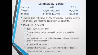 Social Security Benefit Taxation