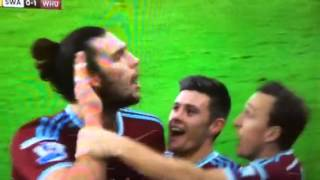 Andy Carroll goal vs Swansea