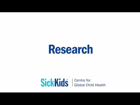 Research - SickKids Centre for Global Child Health