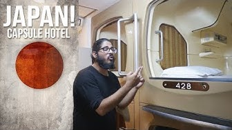 $30 CAPSULE HOTEL TOKYO - Tour of an awesome CAPSULE INN and SPA!