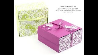 Extra Huge Fold Flat Box Tutorial using Stampin' Up! Supplies