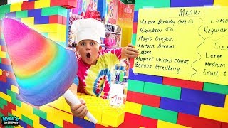 I Built a Giant Lego DRIVE THRU COTTON CANDY Dispenser Restaurant!