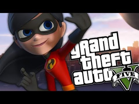 GTA 5 Mods - THE INCREDIBLES MOD w/ VIOLET & POWERS (GTA 5 PC Mods Gameplay)