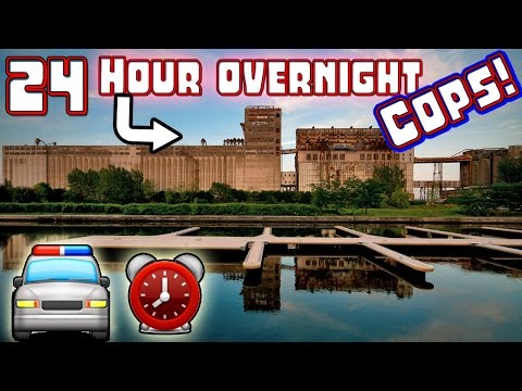 (COPS) 24 HOUR OVERNIGHT CHALLENGE JUMPING ONTO MOVING TRAIN // 24 HOUR OVERNIGHT SCARY FACTORY!