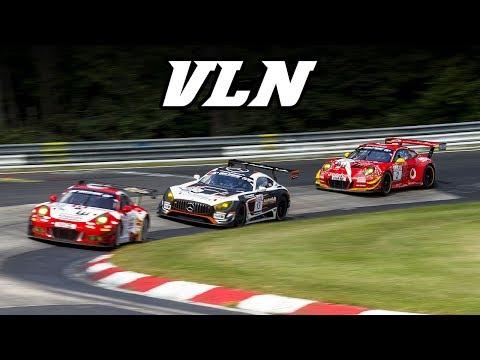 991 GT3-R, 488, IS-F, E46 M3, RS01, M6 GT3, BRZ, ... on the Nordschleife (VLN race 4 2018)