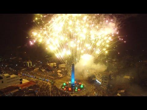 Rotunda Obelisk Christmas Lights on Ceremony Ipil Zamboanga Sibugay