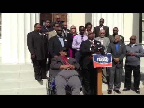 Pastor John C. Evans support councilman Yarber for Mayor