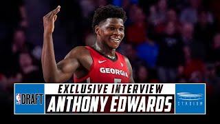 Anthony Edwards Wants to Be the No. 1 Pick, Talks NBA Prep With Shams Charania | Stadium