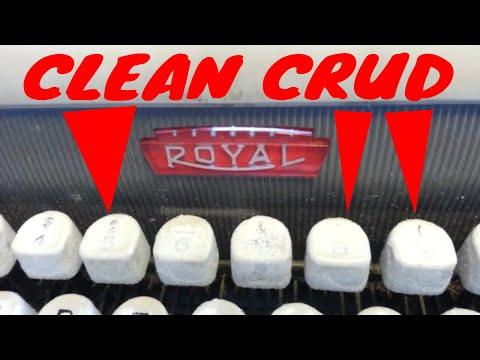 Royal Futura 800 Typewriter Plastic Key Top White Crud Removal Cleaning Servicing