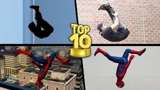 Top 10 Stunts In Real Life of 2018 (Spiderman, Avengers, Dragon Ball)