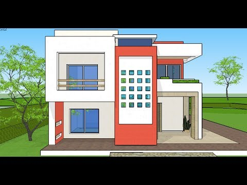 Plano casa moderna 10x20 youtube for Casas modernas 10 x 20