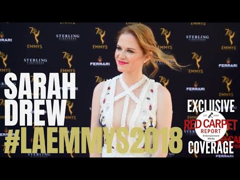 Sarah Drew GreysAnatomy on the 70th Los Angeles Area Emmy® Awards Red Carpet LAEmmys