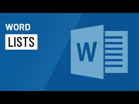 Word: Lists