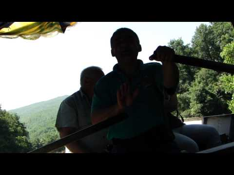 Ohrid Macedonia - Boat-guide singing in Hebrew