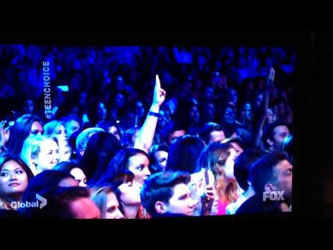 Paul Wesley & Lea Michele at Teen Choice Awards 2014