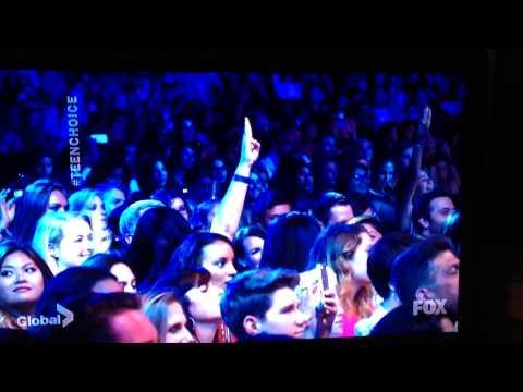 Paul Wesley & Lea Michele at Teen Choice Awards 2014