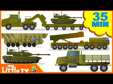Learn Army Trucks | Tanks | Submarine | Transport Vehicles f