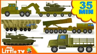 Learn Army Trucks | Tanks | Submarine | Transport Vehicles for Children | Kids Videos