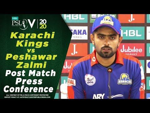 Post Match Press Conference | Karachi Kings vs Peshawar Zalmi | HBL PSL 2020