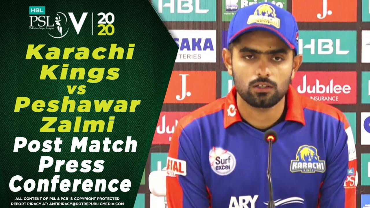 Post Match Press Conference | Karachi Kings vs Peshawar Zalmi | HBL PSL 2020