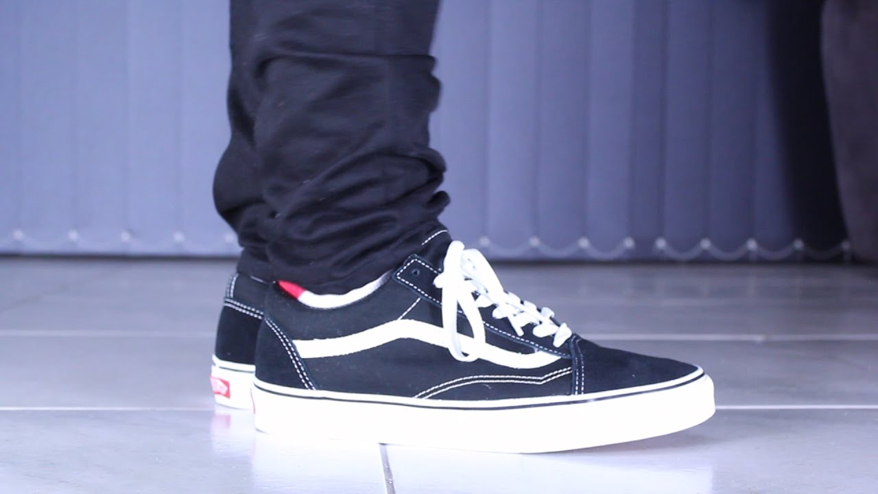 how to wear vans old skool on feet